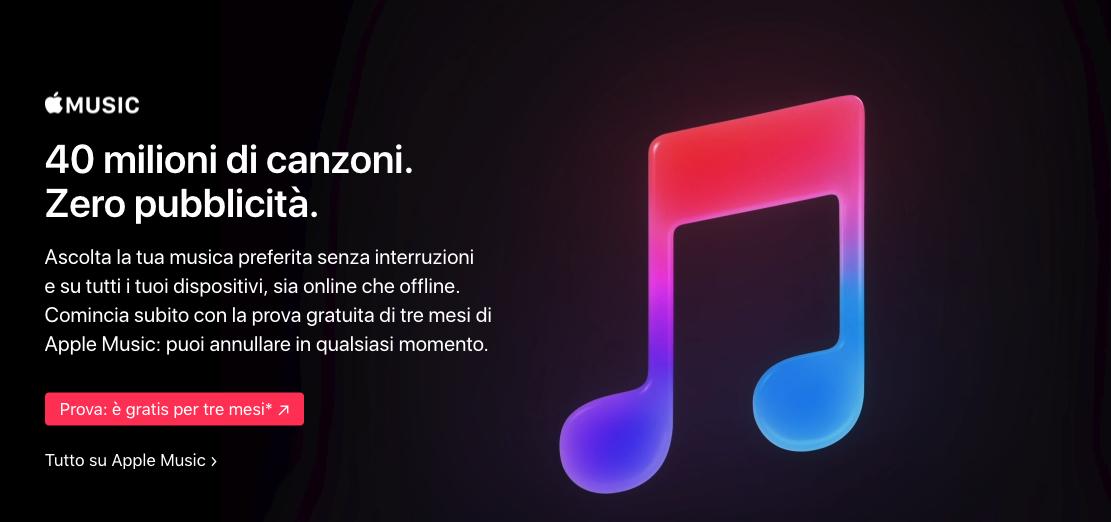 Attivazione Apple Musica