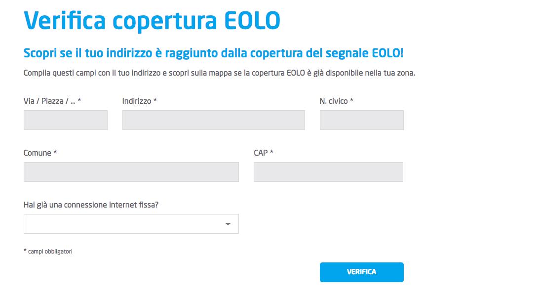 Come verificare la copertura di Eolo