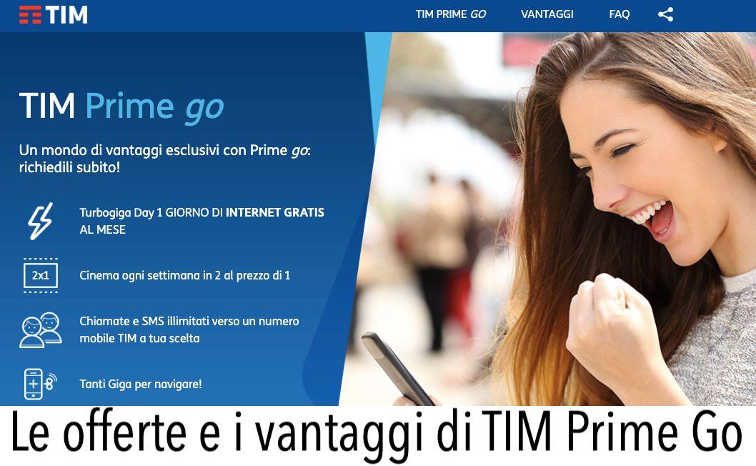 Tim Prime Go offerte offerte prezzo come funziona