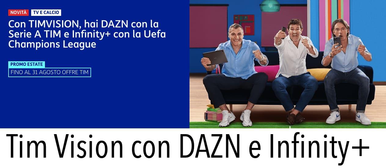 Tim Vision Dazn Calcio Sport Come Fare Abbonare Prezzo