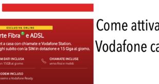 Attivazione Vodafone Casa
