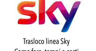 Trasloco Sky come Traslocare linea